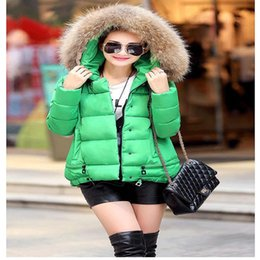 2015 New Winter Plus Size Jacket Coat Women Cotton Down Parkas With Luxury Large Fur Collar Hood Thick Coat Outwear 6ColorsNZ039