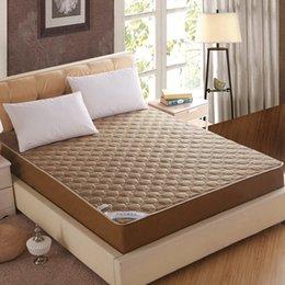 Colchones de colchón en venta-Al por mayor-Nueva llegada venta caliente color sólido colchón de la cama cubierta protectora con colchón relleno / almohadilla topper # 10