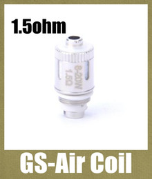 Wholesale GS Air Coil ohm Replacement Coil Core for GS Air Atomizer Huge Vapor Tank heating coil head dual coils fit W FJ065