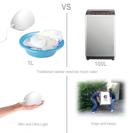 Wholesale Newest Ultrasonic Multi functional Compact Mini Pocket Portable Laundry Washing Machine Washer Cleaner Cleanser for Clothes Garments Towel