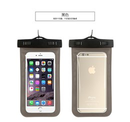 Wholesale Waterproof Bag Case Pouch for iphone s Plus plus Samsung S6 Cellphone Water Proof Cell phone Underwater Pouches Dry Bags with Lanyard