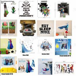 Wholesale Cartoon Minecraft Wall Sticker Home Decor Party Decoration Creeper Enderman Wallpaper D Decorative Wall Decal Roll Décor Big Hero Factory
