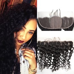 Cheap Indian Silk Base Lace Frontal Closure Human Hair 13x4 Bleached Knots Virgin Deep Wave Full Lace Frontal Pieces G-EASY Hair