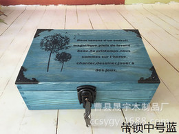Manufacturers wholesale spot zakka do the old wooden grocery retro lockable storage box in the number