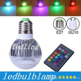 CREE LED del bulbo 2015 nueva llegada LED RGB E27 GU10 9W CA 85-265V RGB LED de la lámpara de color con control remoto CE múltiple desde focos de colores proveedores