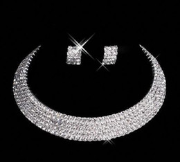 Designer 2019 Custom Made Diamond Earrings Necklace Party Prom Formal Wedding Jewelry Set Bridal Accessories Free Shipping In Stock