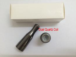 Wholesale Puffco Vaporizer Skillet V2 Atomizer Wax Vaporizer Clone with Dual quartz Coil Gun Metal Color Metal Drip Tip for thread battery