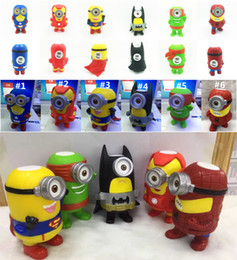 Wholesale Christmas Gift Bluetooth Mini Speaker Cute Despicable Me Portable Speakers Minions TF MP3 Player with MIC Spide Man Cartoon Amplifier