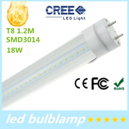 Best Selling!T8 LED Tube Light Bulb 4 Foot 1200mm 18W Transparent Clear PC Cover CE RoHS Free Shipping DHL