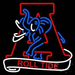 Wholesale 825 Promotion Crimson Tide Alternate Neon Sign Dallas Cowboys Neon Signs Nikke Real Glass Tube Handicraft Sign Gifts