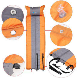Wholesale BlueField Outdoor Mat Automatic Inflatable Camping Mat Pad Mattress Self Inflating Moistureproof Tent Folding Mat with Pillow
