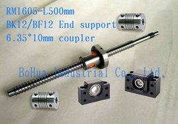 Wholesale Good set Rolled ballscrew L500mm with ballnut with end machining set BK12 BF12 mm coupler
