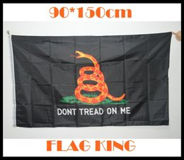 Wholesale 4 styles Dont Tread on Me Grommet Flags by Feet Gadsden flags Classic Polyester high quality Flags