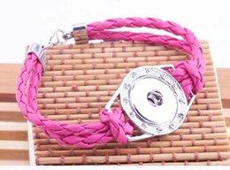 10pcs mix colors Hot Leather Bracelet Fit Snap Buttons DIY Fashion PU Leather Snap Jewelry Bracelets Women Gifts HF004