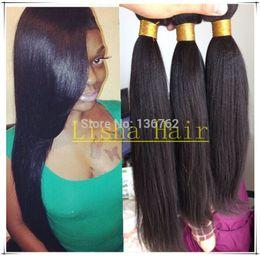 Wholesale unprocessed A grade light yaki malaysian virgin human hair weave extension yaki straight bundles natural color