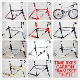 Wholesale 2015 Time RXRS Ulteam carbon road bicycle frame fork headset seatpost clamp carbon road frame bike parts