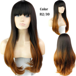 Wholesale Cheapest Synthetic Full Lace Wigs - Quality Available Ombre Heat Resistant Full Wig Cheap Female Long Elegant Natural Curly Synthetic Natural Wig None Lace Wigs