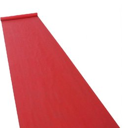 Wholesale 2016 New Wedding Favors Red Nonwoven Fabric Carpet Aisle Runner For Wedding Party Decoration Supplies Shooting Prop Meters roll