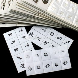Wholesale 35 x Nail Art module Polish Seal Templates Stickers Pattern Printing DIY Decals Air Brush Hollowed Stencils Mixed Design