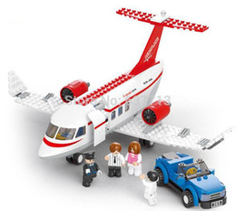 Educational DIY Construction building blocks aircraft B0365 275pcs plastic toy 1206#06