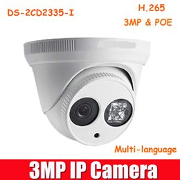 Wholesale Hikvision DS cd2335 I IP Camera to replace DS CD2332 I P CCTV camera MP V5 POE Dome network camera Onvif Array leds