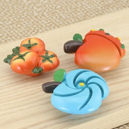 Wholesale Cartoon baby fruit Cabinet Knobs Handles Closet Dresser Knobs Drawer Pulls Girl s Boy s Bedroom furniture resin Cute knobs