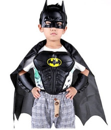 Wholesale Children Kids Batman Superman Armor Mask Arm guard Cloak Stage Shown Props Costumes Boys Batman Cosplay Costumes Hallowmas Props