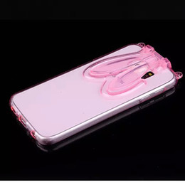 Rabbit Case with ear stand strap gift For Sumsung Galaxy S6 G9200 Rubber Soft TPU Case Cover