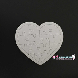 Wholesale-Free shipping DIY blank thick jigsaw puzzle plane can be printed and painted with water splashed and pigments.