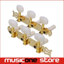 A set of 1R1L Gold Classical Guitar Tuning Pegs Keys Tuners Machine Heads MU0660