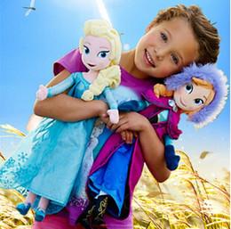 Wholesale Frozen Elsa Anna Princess Queen Stuffed Soft Plush Dolls Toys for Kids Children Girls Christmas Gift DHL Free Hot on ebay