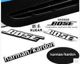 Wholesale Harman kardon Marked change Speaker decorative stickers For BMW X1 X6 X5 E71 F07 E46 E92 E93 F30 MINI COOPER set