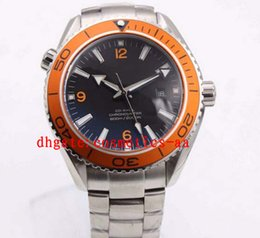 Luxury EGA 8500 Series Automatic Movement CeraGold LiquidMetal Men Mechanical Watches orange Ceramic bezel Wristwatch
