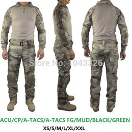 Wholesale BDU Tactical cargo pants with knee pads camouflage uniform clothing combat trousers suit camouflage training us army military