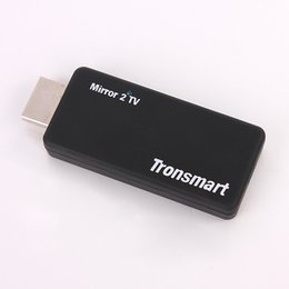 Wholesale Tronsmart T1000 Mirror2TV Wireless Display HDMI adapter Miracast DLNA EZCAST crazy Receivers item for your home andio