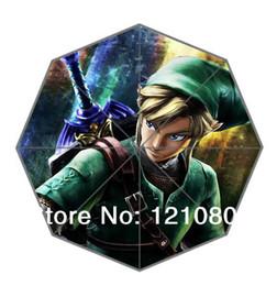Wholesale Custom Game Legend of Zelda Umbrella Out Door Supplies New Design Fashion Portable Foldable Bmbershoot UN