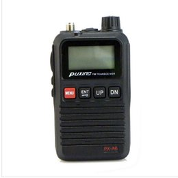 Wholesale PUXING PX A6 VHF MHZ Mini compact two way radio walkie talkie with FM radio best for hotel commercial