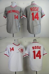 Wholesale cincinnati reds pete rose Baseball Jersey Cheap Rugby Jerseys Authentic Stitched Size