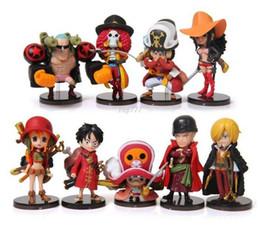 Wholesale New cm One Piece Luffy Zero Nami Usopp Tony Chopper Sanji Nico Franky Brook set PVC Action Figure Model Toy Gift