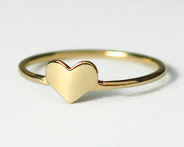 10pcs Lot Free Shipping Solid 18K Gold Plated Heart Ring , Jewelry Ring For Women wholesale love