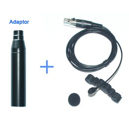 Wholesale Condenser Microphone Xlr - Free Shipping Professional Lapel Condenser Microphone for Violin and Mandolin Viola Musical Instruments with XLR Phantom Adaptor