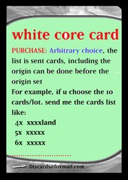 Wholesale Hot MTG proxy mtg diy cards white core lion recommended customized dual lands power
