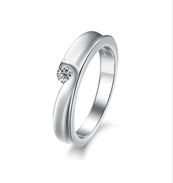 Free Shipping FineWholesale - Rings , Women's Hearts and Arrows diamond ring simulation, Platinum Plating ring, wedding ring