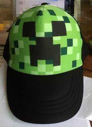 Wholesale 2015 Minecraft JJ monster Creeper Baseball caps Mesh hat Peaked Cap Sun hat