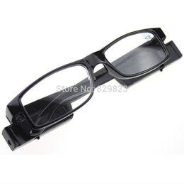Wholesale-500PCS LOT Led Reading Glasses Reading Glass with LED Light glasses power +1 +1.5 +2 +2.5 +3 +3.5 +4 freeshipping