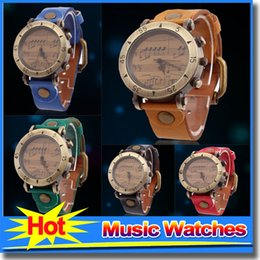 Wholesale New Arrival Fashion Casual Female Watches Music Operator Antique Students Quartz Watches For Women Ladies Dress