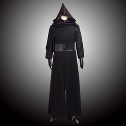 Wholesale Hot STAR WARS Kylo Ren Cosplay Adult Costume Force Awakens Deluxe Mens Cosplay Full Set Halloween Clothes