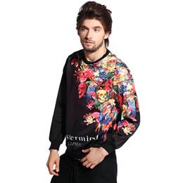 w1213 Raisevern new hip hop 3D sweatshirt harajuku style black sweatshirts floral skulls print hoodies long sleeve pullovers moleton