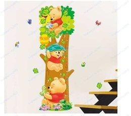 Calcomanías de decoración de la habitación en venta-20pcs al por mayor de Decoración de árboles de las habitaciones y el patrón de los niños del oso desprendibles de la pared pegatinas de medida para los cabritos sitio Inicio Vinilos decorativos Vinilos