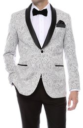 Gramercy Mens Silver Tapestry Super Slim Fit Groom Tuxedos 2018 Side Groomsmen Mens Wedding Prom Suits Custom Made (Jacket+Pants+Tie+Vest)